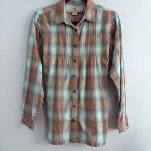 WOOLRICH Womans Tie Back Button Up Flannel